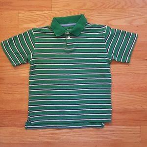 Boy Size XS Cherokee Green Striped Polo Shirt